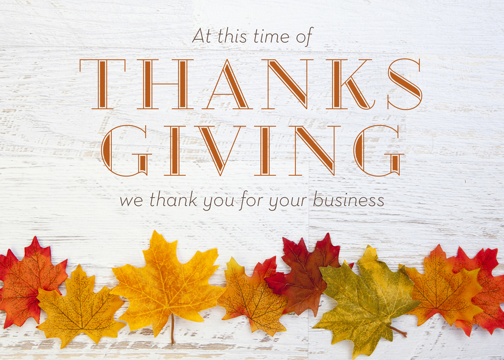 Thanksgiving and Christmas Cards for Lawyers | Fall Leaf Line Up ...